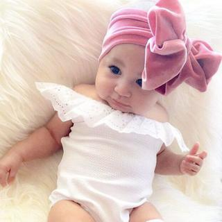New Fashion 9colors Big bowknot Headband baby girl headbands Bow hair band children kid Cotton tur
