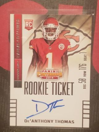2014 Contenders De'Anthony Thomas RC Auto