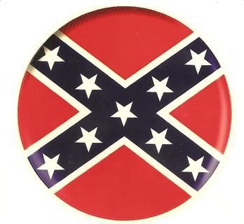 1 Round Rebel Flag Decal