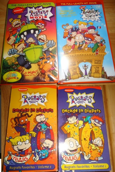 free vhs kids family lot rugrats movie amp decade in