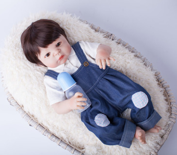 91d6d3466 Free  55cm Full Body Silicone Reborn Baby Doll Toys Play House ...