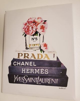 Brand New Designer Wall Art Prada Chanel No 5 Hermes Yves Saint Laurent