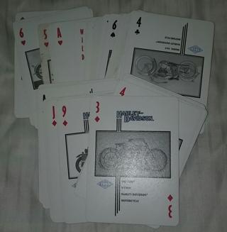 Harley Davidson Playing Card 1997