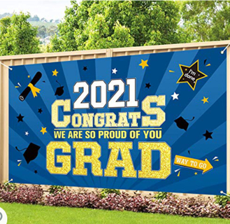 """Graduation Banner for Class of 2021, Large 73"""" x 45"""""""