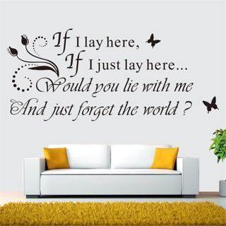 If I Lay Here Vinyl Quote Wall Sticker Home Wall Letters Words Decal Room Decor