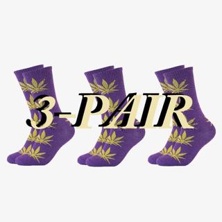 NEW WOMEN'S 3-PACK WEED SOCKS MARIJUANA CANNABIS