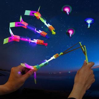 Novel LED Glow Light Up Gadgets Flash Flying Dragonfly Night Party Kids Boy Toys
