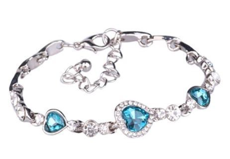 1 NEW Fashionable Fine Jewelry Crystal Heart Shape Elegant Bracelet FREE SHIPPING