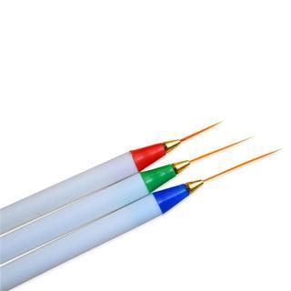 3pcs Pro Nail Brushes DIY Nail Art Drawing Striping Liner Pen Painting UV Gem Polish Nail Art Brus