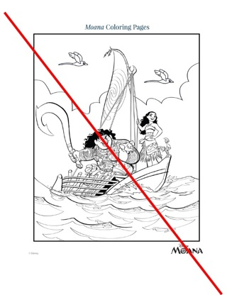 Disney Princess Moana Coloring Pages