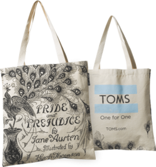Toms Pride And Prejudice Out Of Print Tote Bag Cost 18 W O A 75 Purchase From