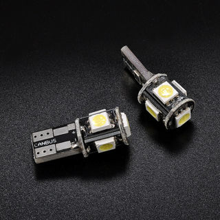 6Pcs/Set T10 LED Canbus Error Free 5 SMD Car Side Wedge Light Bulb White 194 W5W
