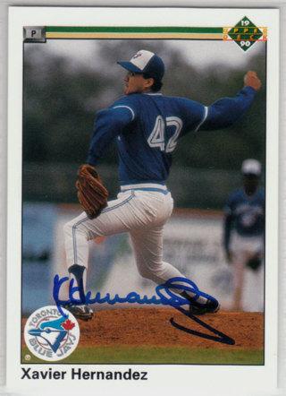 1990 Upper Deck Xavier Hernandez autograph RC