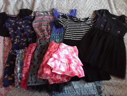 Girls Dresses and Skirts size 6 (10 pcs.)