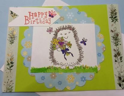 BN CUTE HEADEHOG BIRTHDAY CARD
