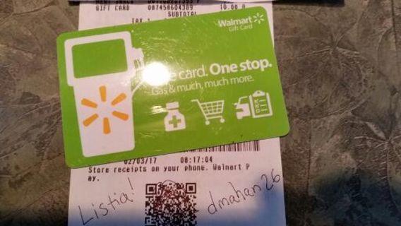 $10 Walmart Gift Card Free Shipping!