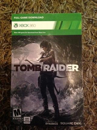 Xbox 360 Tomb Raider game code