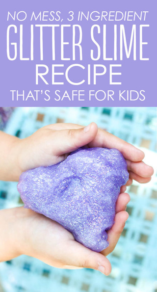 DIY GLITter slime recipe + 3 bonus recipes