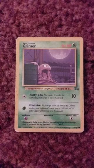 Grimer Basic Pokemon Card
