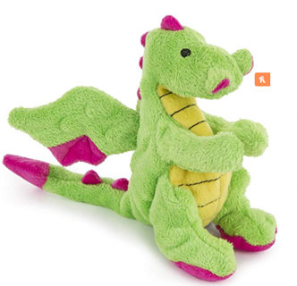 VALENTINE'S DAY GIFT!  goDog Dragons With Chew Guard Technology Durable Plush Squeaker Dog Toys