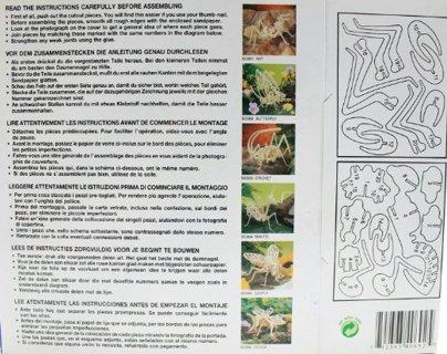 Styracosaurus (dinosaur) - Balsa wood skeleton - NIP