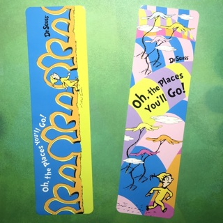 2 New Dr Seuss Oh, the Places You'll Go Bookmarks.