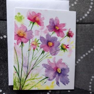 Purple Flowers Notecard (A)