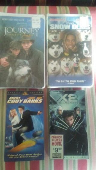 Lot of 4 Family Movies -excellent condition.