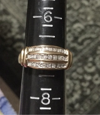 10k real gold diamond ring 7