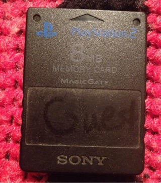 Sony Playstation 2, 8 MB Memory Card! Free Shipping!!!!!