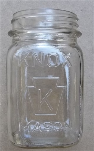KNOW ( K in Keystone) Pint Mason Jar 7
