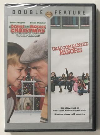 A Dennis the Menace Christmas / Unaccompanied Minors Double Feature DVD - Brand New Factory Sealed!