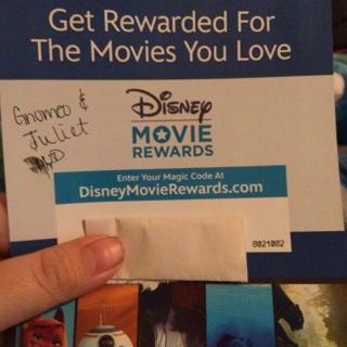 Disney Movie Rewards for Gnomeo & Juliet