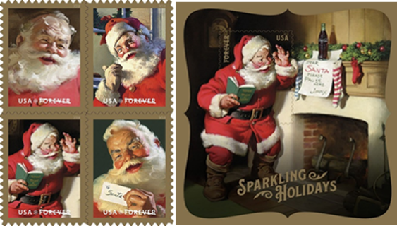 Sparkling Holidays ~ Christmas ~ Forever Postage Stamps