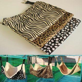 Pet Cat Rat Rabbit Hammock Bed Animal Hanging Dog Cage Nest Comforter Ferret Pad