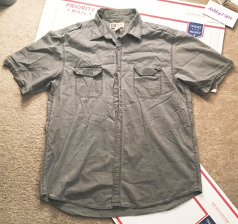 mens button up top nice shirt pocket tshirt