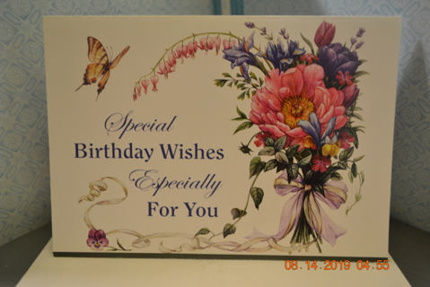 ****BEAUTIFUL BIRTHDAY WISHES CARD W/ENVELOPE***FREE SHIPPING