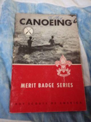 Boy Scouts of America Merit Badge Series Book Canoeing