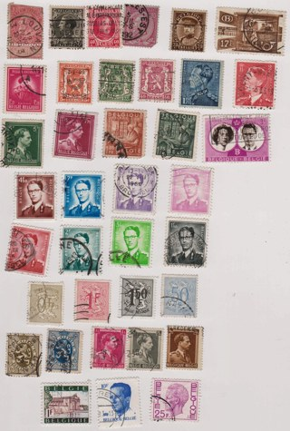 37 Belgium Stamps and Sets