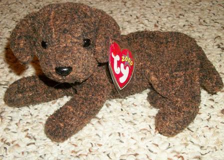 41dfed1ddc3 Free  New TY Beanie brown hound or Lab Dog