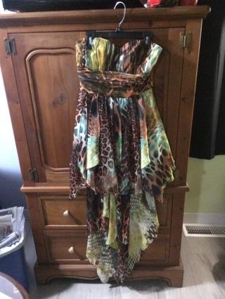 DEB Safari print ladies size 3/4 dress