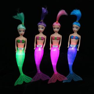Handmade Waterproof LED Dolls Mermaid Tail Dress Girl Kids Toy Gifts New