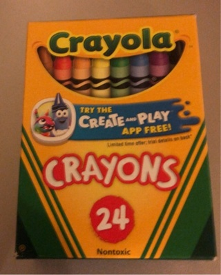 "Brand New: 24 Crayons! ""Crayola"" Excellent For Illustration / Spcl Effects / Art Class / Crafts"