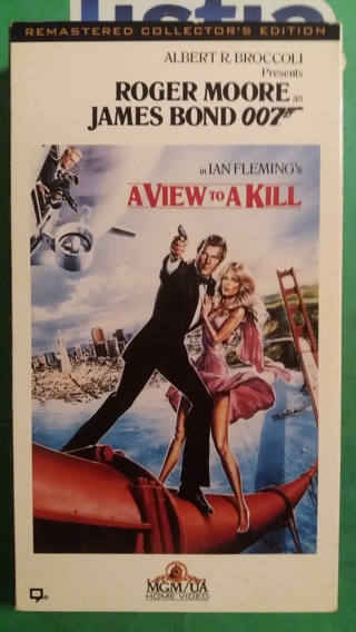 VHS movie  a view to a kill oo7  free shipping