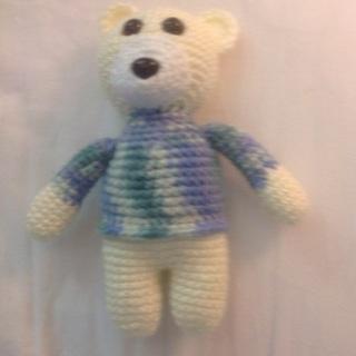 Hand Crochet Stuffed Bear Toy.❤️