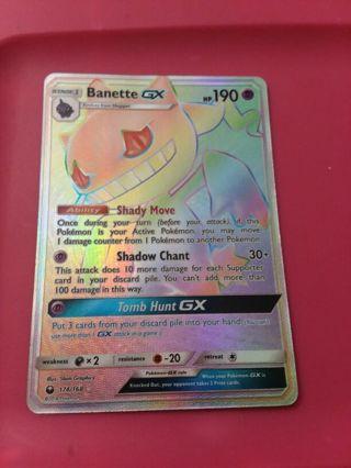 Secret Rare Banette GX Full Art Ultra Rare Pokemon Card Mint