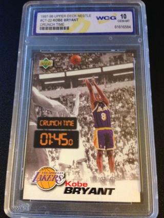 kobe bryant 1997-98 Nestle Crunch Time WCG 10 Mint sp Upperdeck Lakers