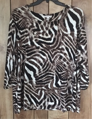 Woman's plus size blouse 3X. Animal print