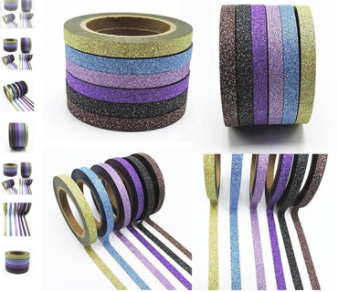 FREE NEW 1 ROLL of Fashion DIY Glitter Washi Tape for Stationery, Scrapbooking & Paper Crafts