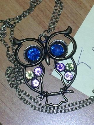 Retro/Vintage Style Owl Necklace